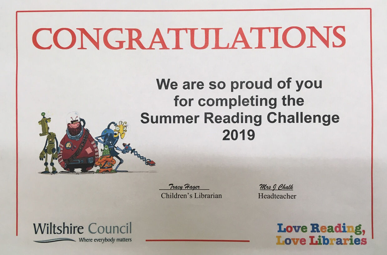 Summer Reading Challenge Success!