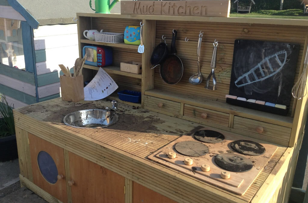 Ducklings' Mud Kitchen is Open for Business!