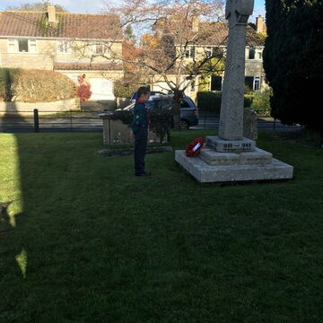 Sophie Laying The Wreath
